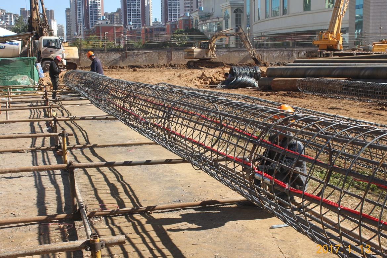 钢筋笼照片_五华区KC2010-79号地块危房改造建设项目基坑支护工程 - 项目动态 ...